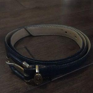Vintage Christian Dior leather belt - Large